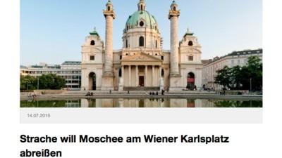 Wenn Rechte auf Satire reinfallen und die Karlskirche für eine Moschee halten
