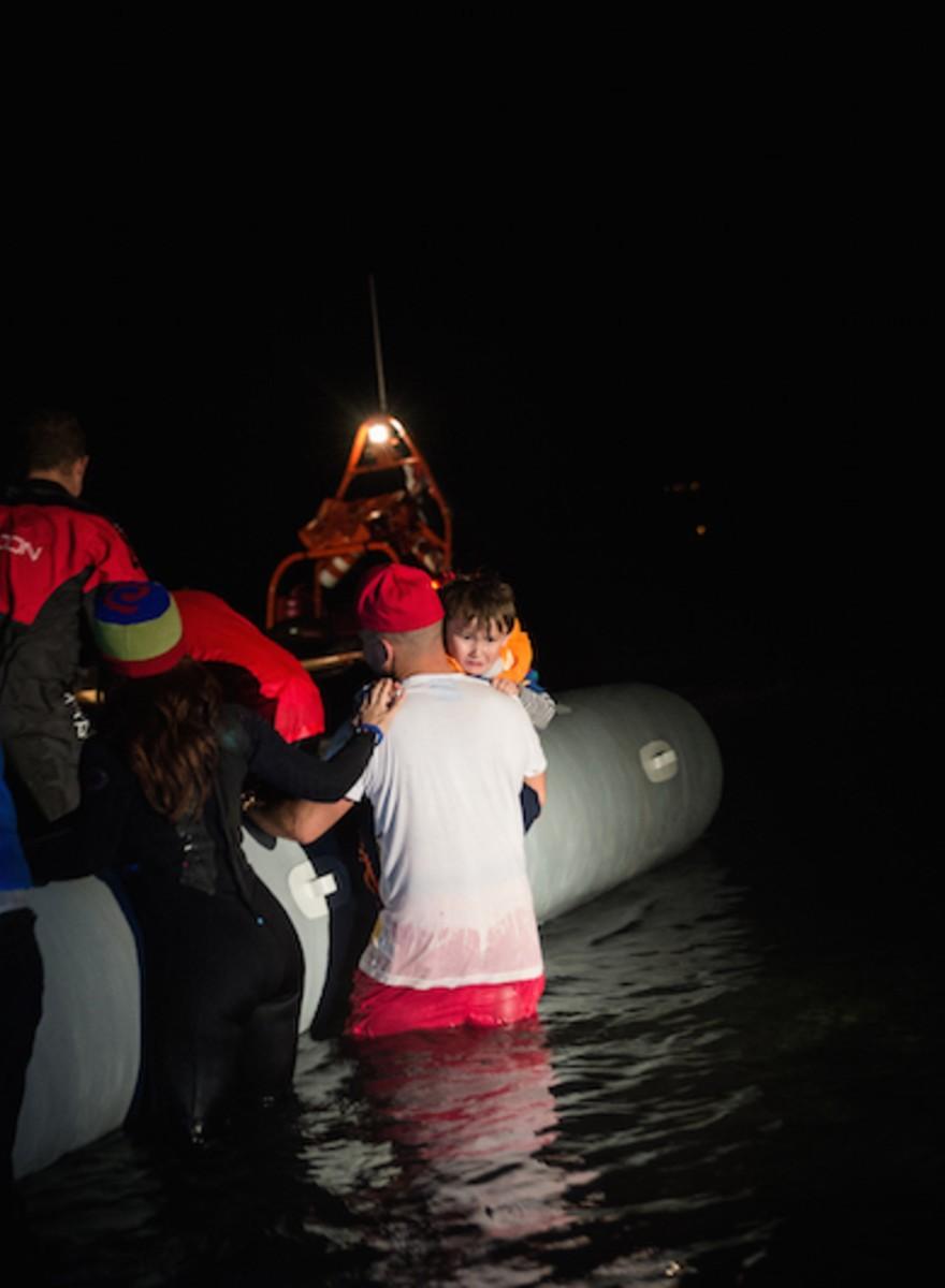 Die Flucht nach Lesbos im Winter