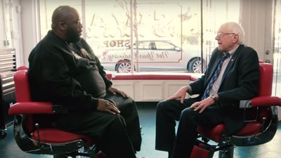 Watch Killer Mike Interview Bernie Sanders in an Atlanta Barbershop