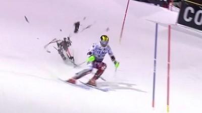 Ski-Star Marcel Hirscher fast von einer Kameradrohne erschlagen