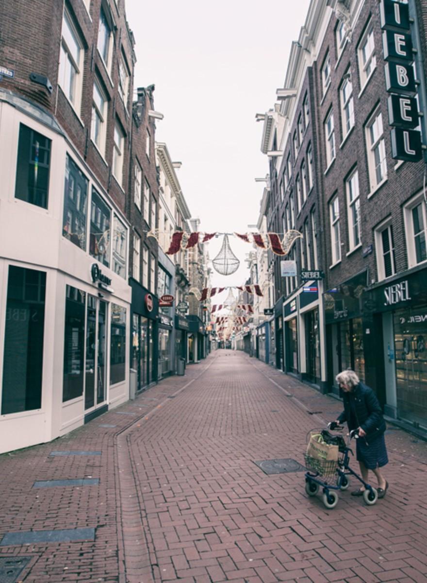 Amsterdam is een spookstad tijdens de kerst