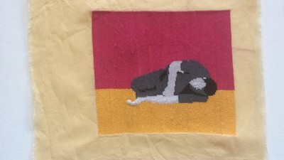 This Palestinian Artist Embroiders Images of Syrian Gore and Violence
