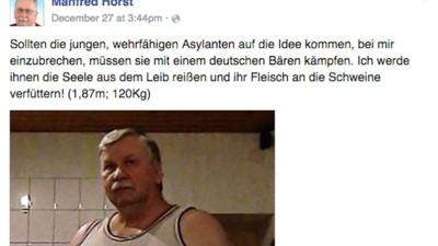 Wichtige Fragen, die Manfred Horst, der Asylanten-Schlächter, aufwirft