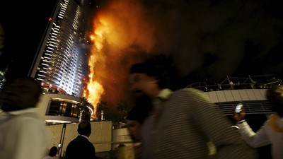 The Address Hotel in Dubai Goes up in Flames Ahead of New Year's Celebration