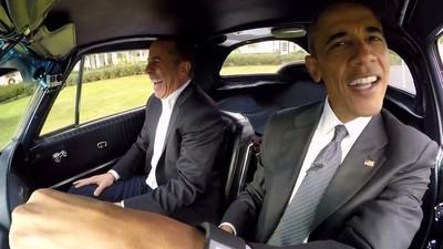 Urmărește-l pe președintele Obama cum glumește cu comedianul Jerry Seinfeld