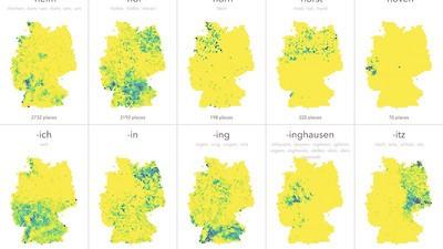 Welche deutschen Ortsnamen sind wo am häufigsten?