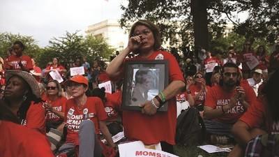 De bezorgde moeders die het Amerikaanse wapenbeleid willen veranderen