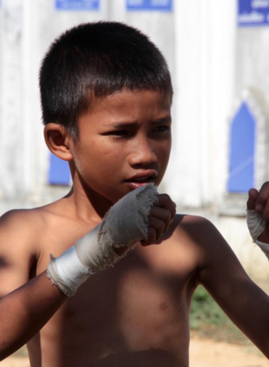 O ano novo dos lutadores de Muay Thai da Tailândia