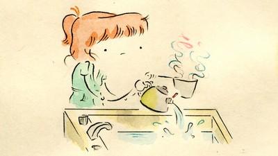 Leslie Ponders the Joy of Walking in Today's Comic from Leslie Stein