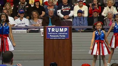 Watch Some Young Girls Sing the 'Official Donald Trump Jam' at a Rally in Florida