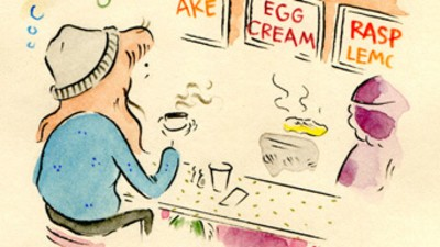 Leslie Has Lunch at a Diner in Today's Comic from Leslie Stein