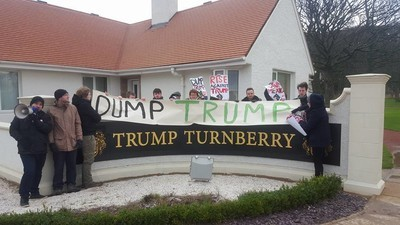 'Dump Trump': Scottish Protesters Invade Donald Trump's Resorts