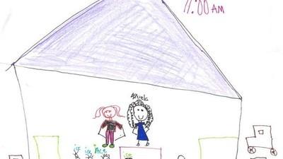 Ontroerende tekeningen van kinderen die uit de Verenigde Staten worden gezet
