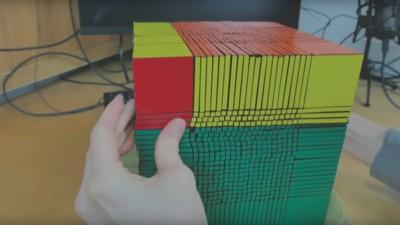 Es ist vollbracht: YouTube-Bastler stellt weltweit größten Zauberwürfel fertig