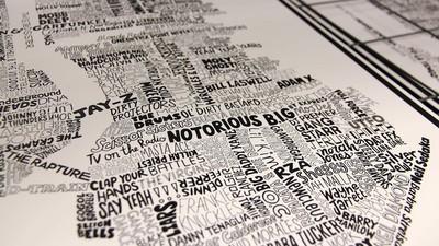 Raak verdwaald in deze interactieve muziekplattegrond van New York