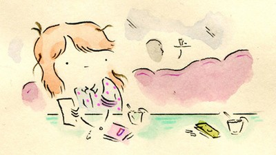 Leslie Is Shy in Today's Comic from Leslie Stein