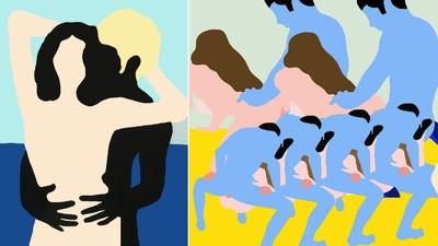 Las pinturas de Xavier Schipani rezuman color y sexo