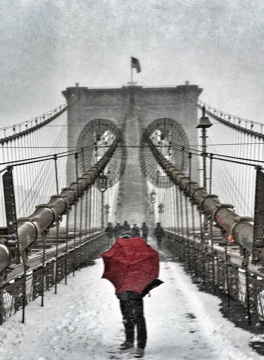 Wie ein Schneesturm New York fest im Griff hatte