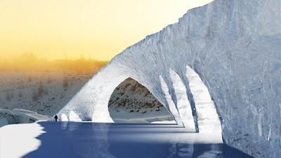 Eindhovense studenten zijn in Finland de grootste ijsbrug ooit aan het maken