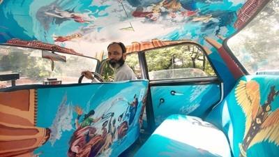 El arte se apropia de los taxis en la India