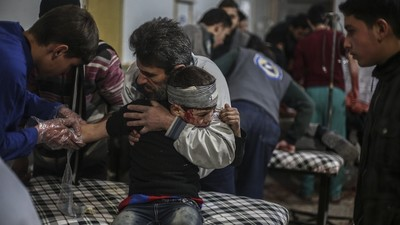 Bombele rusești au ucis cel puțin trei copii pe zi luna trecută în Siria