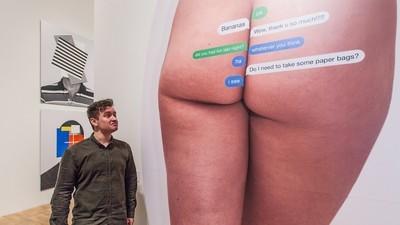 Ich wollte bei einer Kunstausstellung über das Internet herausfinden, ob ich Internetkunst verstehe