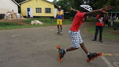 Los niños patinadores de Kenia sueñan con los Juegos Olímpicos