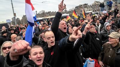 Pegida kwam naar Amsterdam en dat werd natuurlijk rellen
