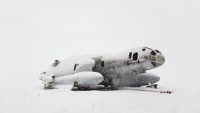 Verschneite Winteraufnahmen vergessener sowjetischer Utopien