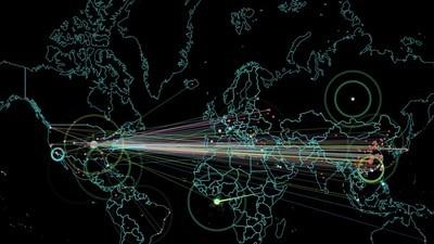 O inquietante mapa dos ataques cibernéticos