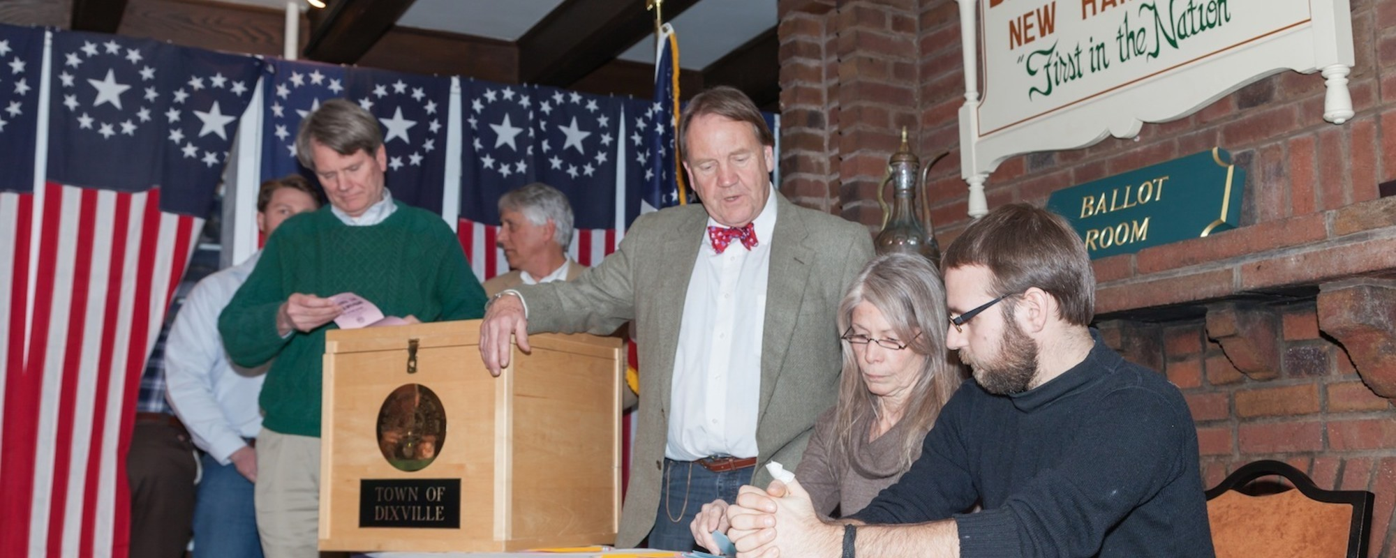 Photos from the Tiny New Hampshire Town Where Voters Cast Ballots at Midnight