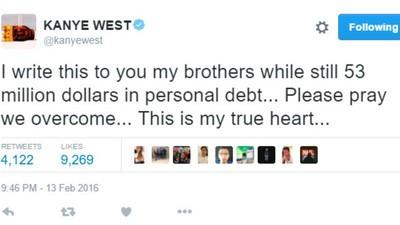 Wie bitte hat es Kanye West geschafft, 53 Millionen Dollar Schulden anzuhäufen?