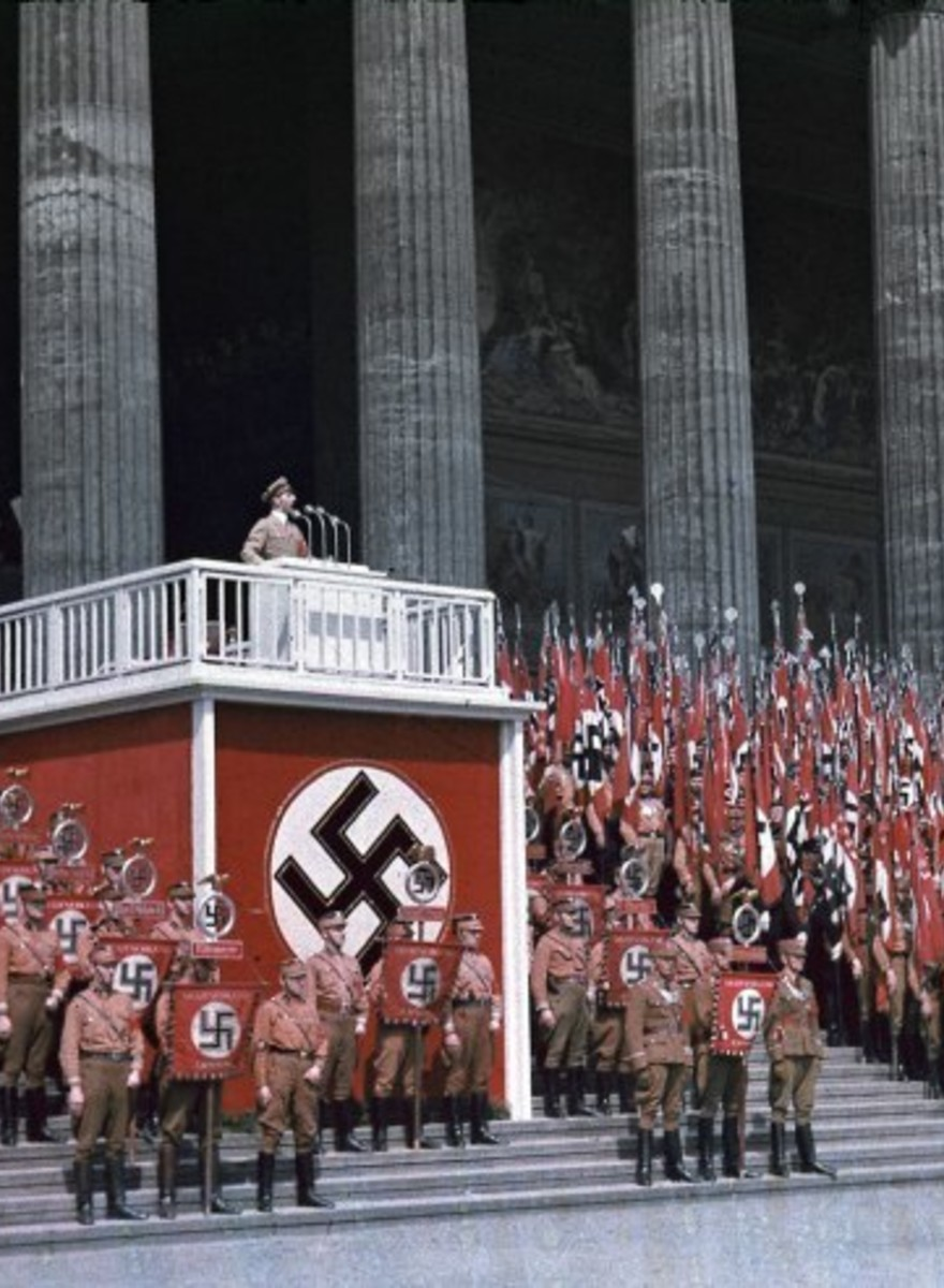 En imágenes: las inquietantes fotos a color del Tercer Reich