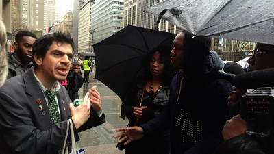 Three People Gathered in the Rain to Protest Beyoncé