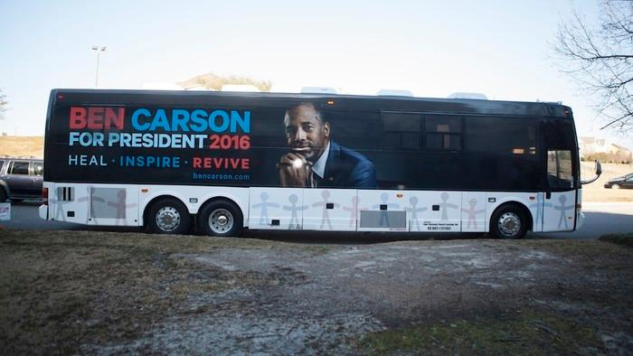 Inside the Surreal, Sleepy World of a Ben Carson Rally as His Campaign Falls Apart