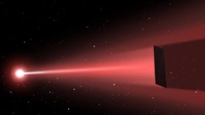 Neuer NASA-Photonenantrieb ließe Raumschiffe auf einem Laser-Strahl durchs All segeln