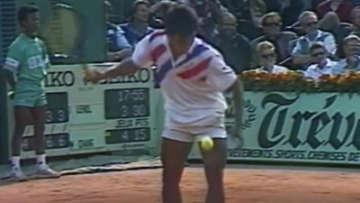 La torturada historia del gesto más punk del tennis