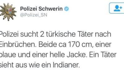 """Wir haben die Schweriner Polizei gefragt, wie das mit dem """"Indianer-Türken"""" gemeint war"""