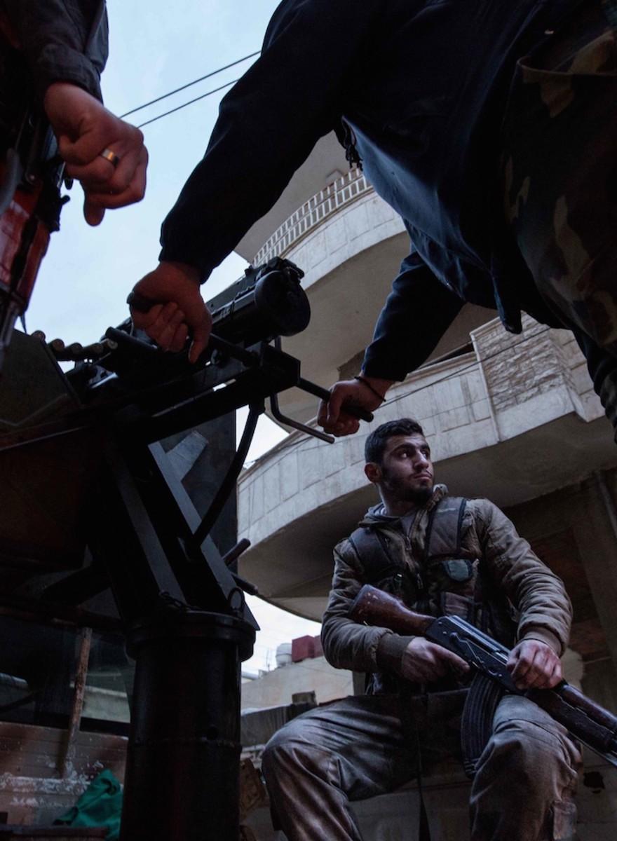 Fotos aus einem umkämpften christlichen Viertel in Syrien