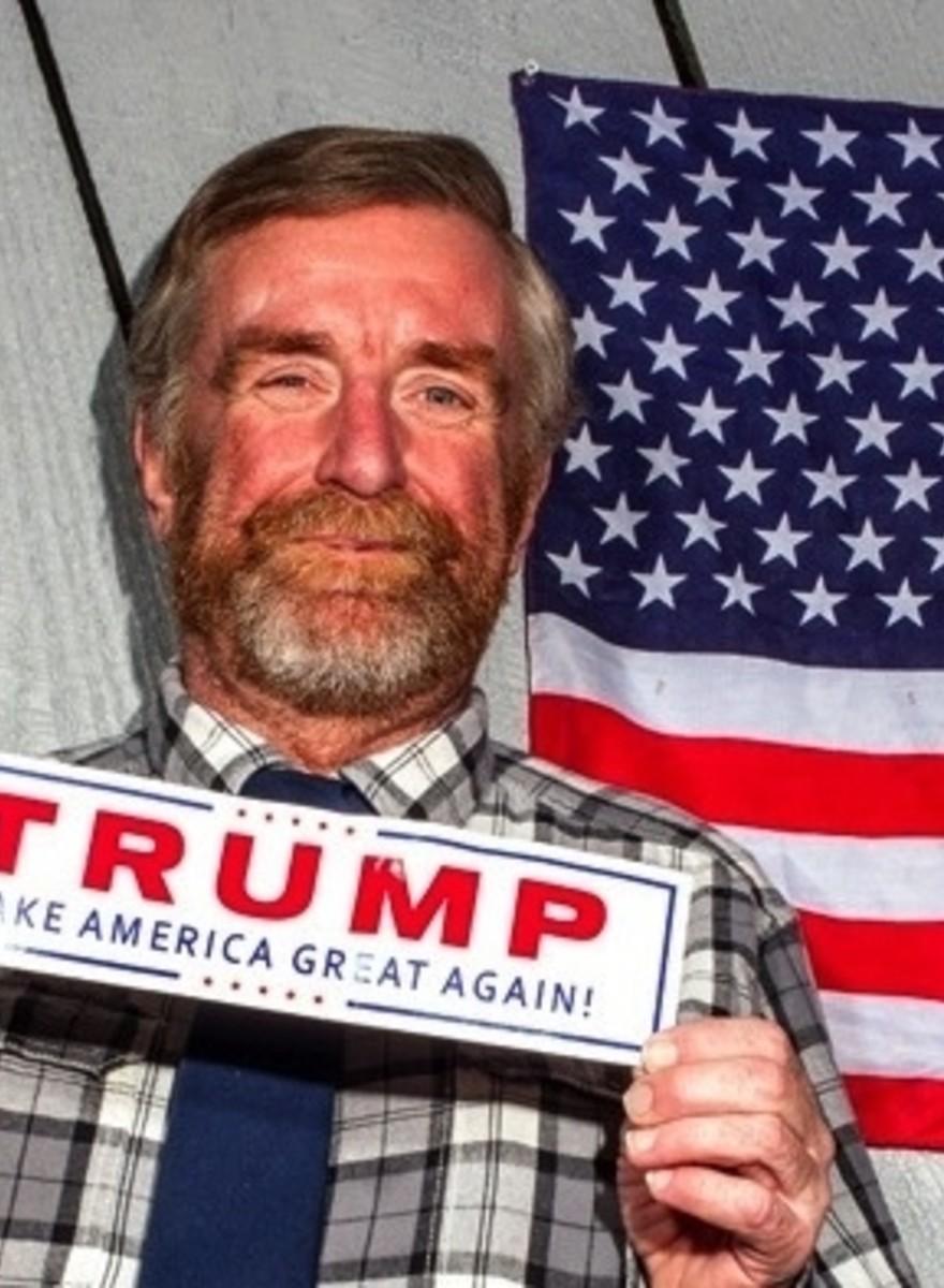 Die Bewohner der Vereinigten Staaten von Trump