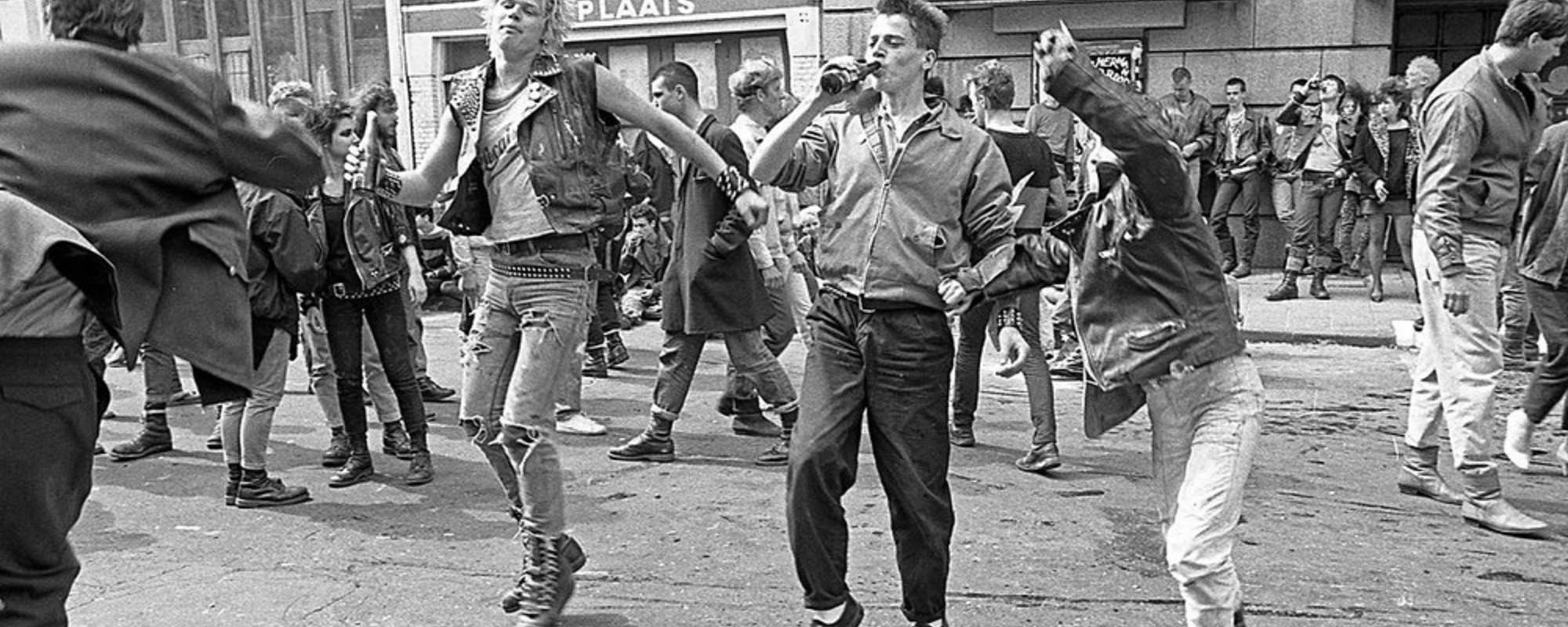 Foto dei primi punk di Amsterdam