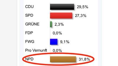 31 Prozent für die NPD bei den Kommunalwahlen in Hessen und was das mit der AfD zutun hat