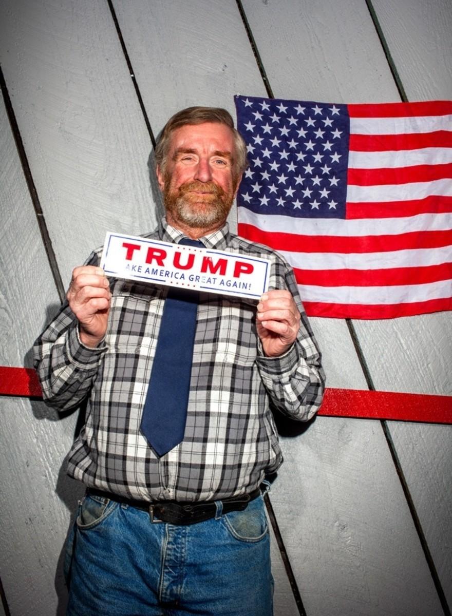 Retratos de los fanáticos de Donald Trump