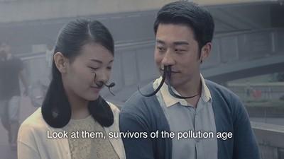 Este absurdo vídeo sobre el vello nasal pretende concienciar sobre la contaminación en China