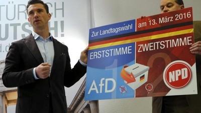 Es sind genug rechte Wähler für alle da: Die NPD will mit der AfD Sachsen-Anhalt erobern