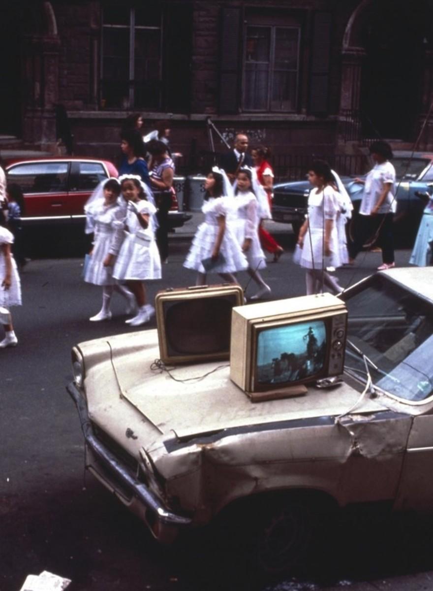 Foto della comunità portoricana nella New York degli anni Ottanta