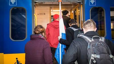 Ik ging mee in de trein met het handjevol studenten dat protesteerde tegen de NS