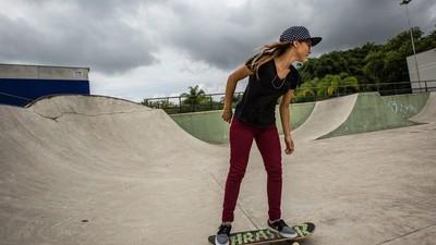 A skater brasileira de 16 anos que está a conquistar o Mundo