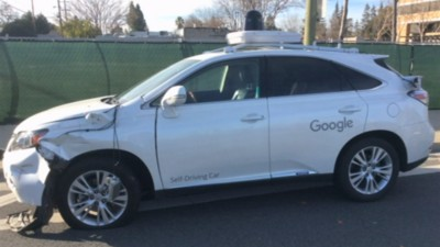 Watch a Google Self-Driving Car Sideswipe a City Bus