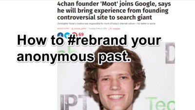 The Rebranding of 4chan Founder Moot